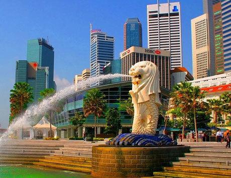 Ankomst till Singapore
