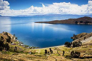 Titicacasjön och Isla del Sol