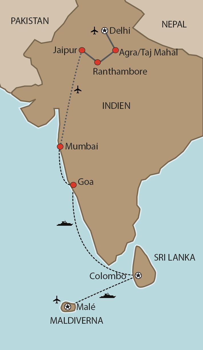 Kryssning Indien Sri Lanka Och Maldiverna Med Svensk Guide