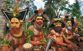 Papua nya Guinea resor.