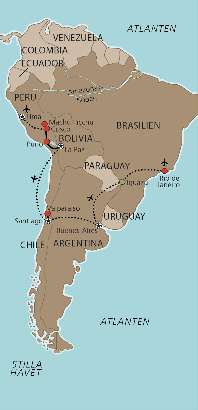Karta Sydamerikas Guldkorn