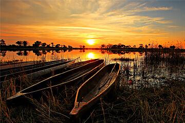 Ankomst Okavangodeltat