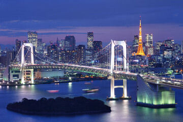 Ankomst Tokyo