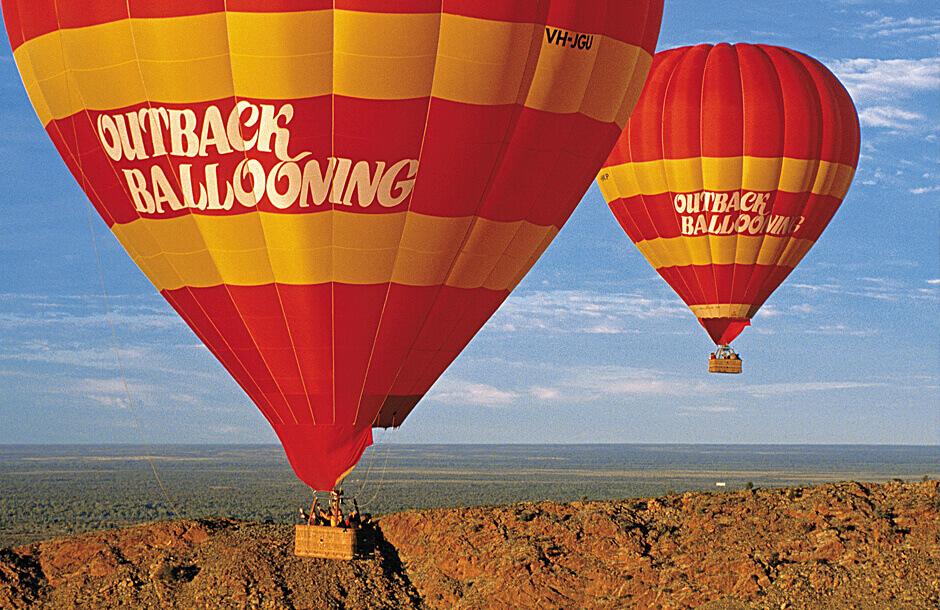 Luftballong över the Outback