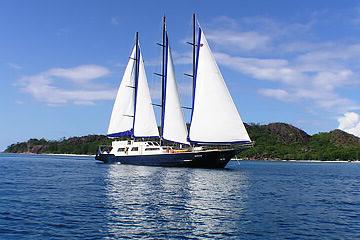 Ankomst Seychellerna och avsegling