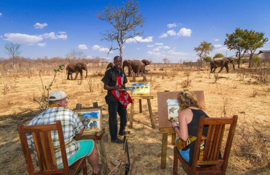 Träffa elefanter