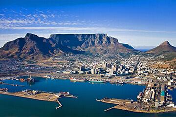 Studiebesök och flyg till Kapstaden