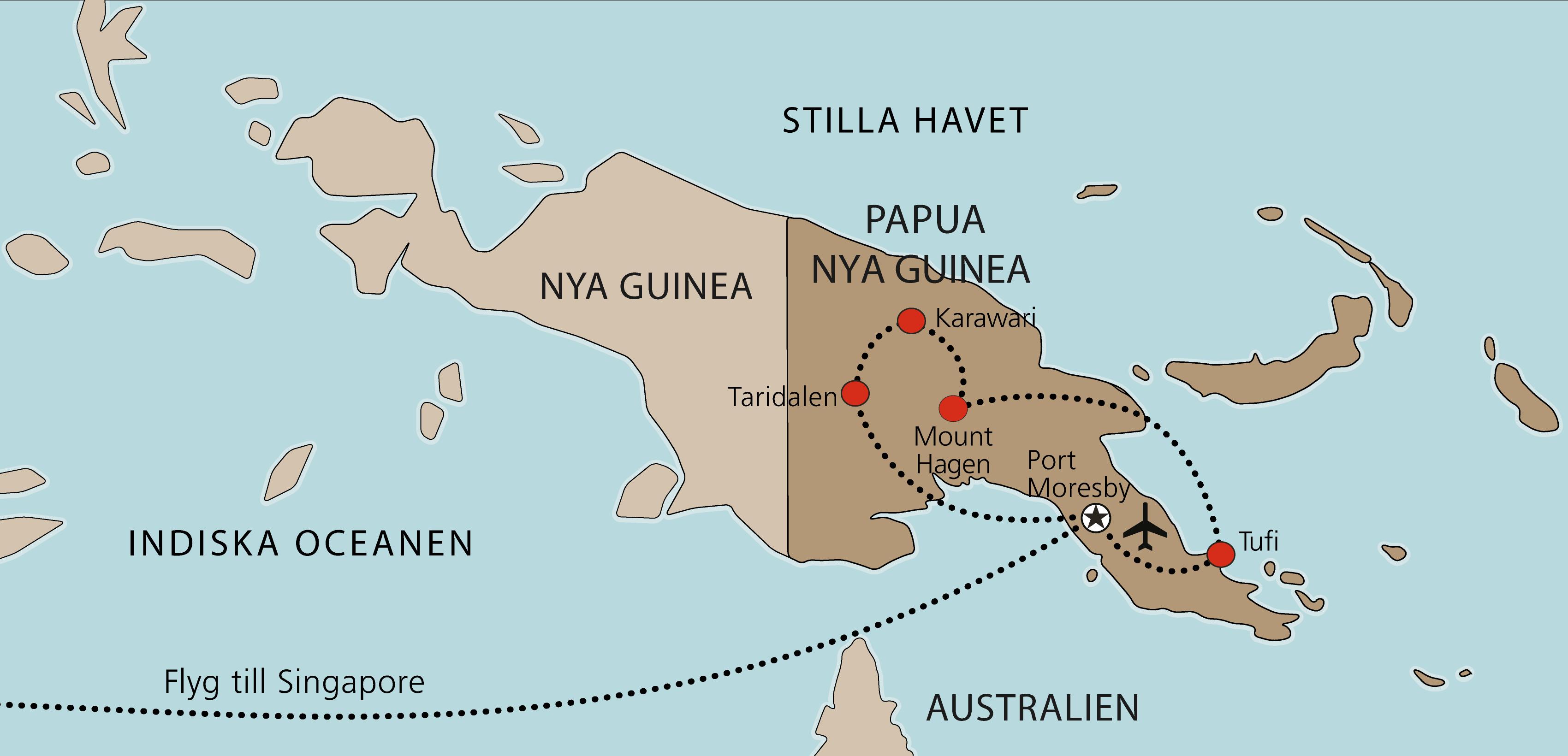 Karta Papua Nya Guinea