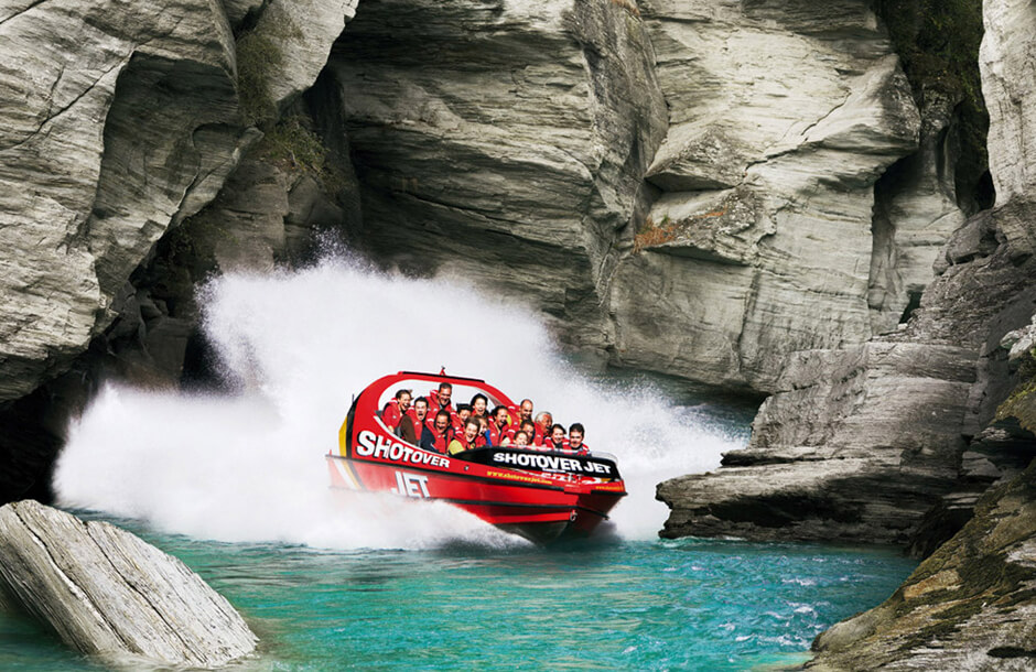 Jet Boat i Shotover Canyon