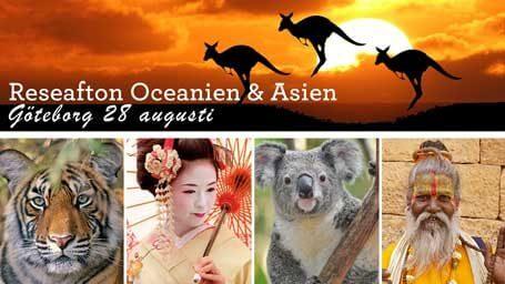 Reseafton Oceanien och Asien, Göteborg 28 augusti