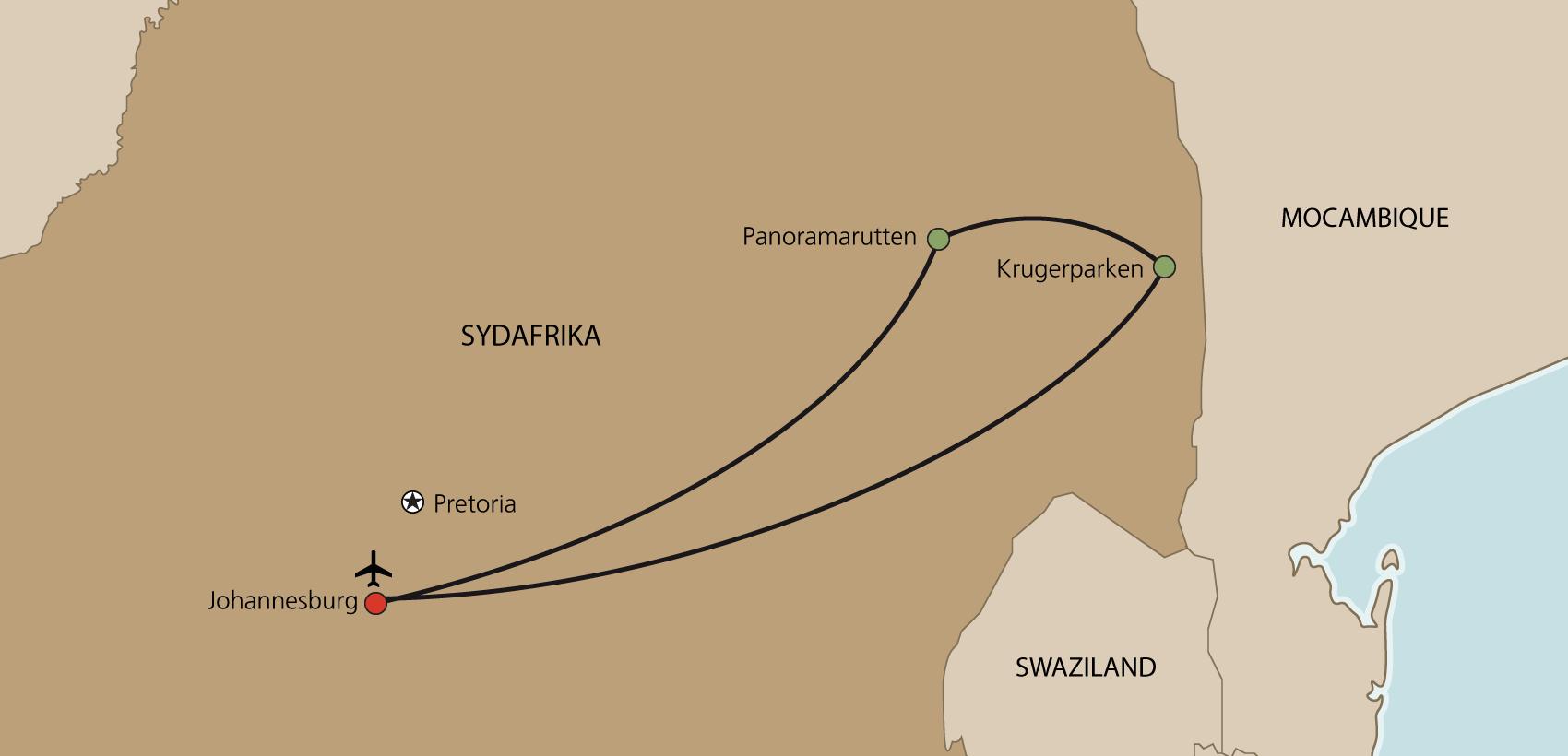 Karta Safari i Krugerparken