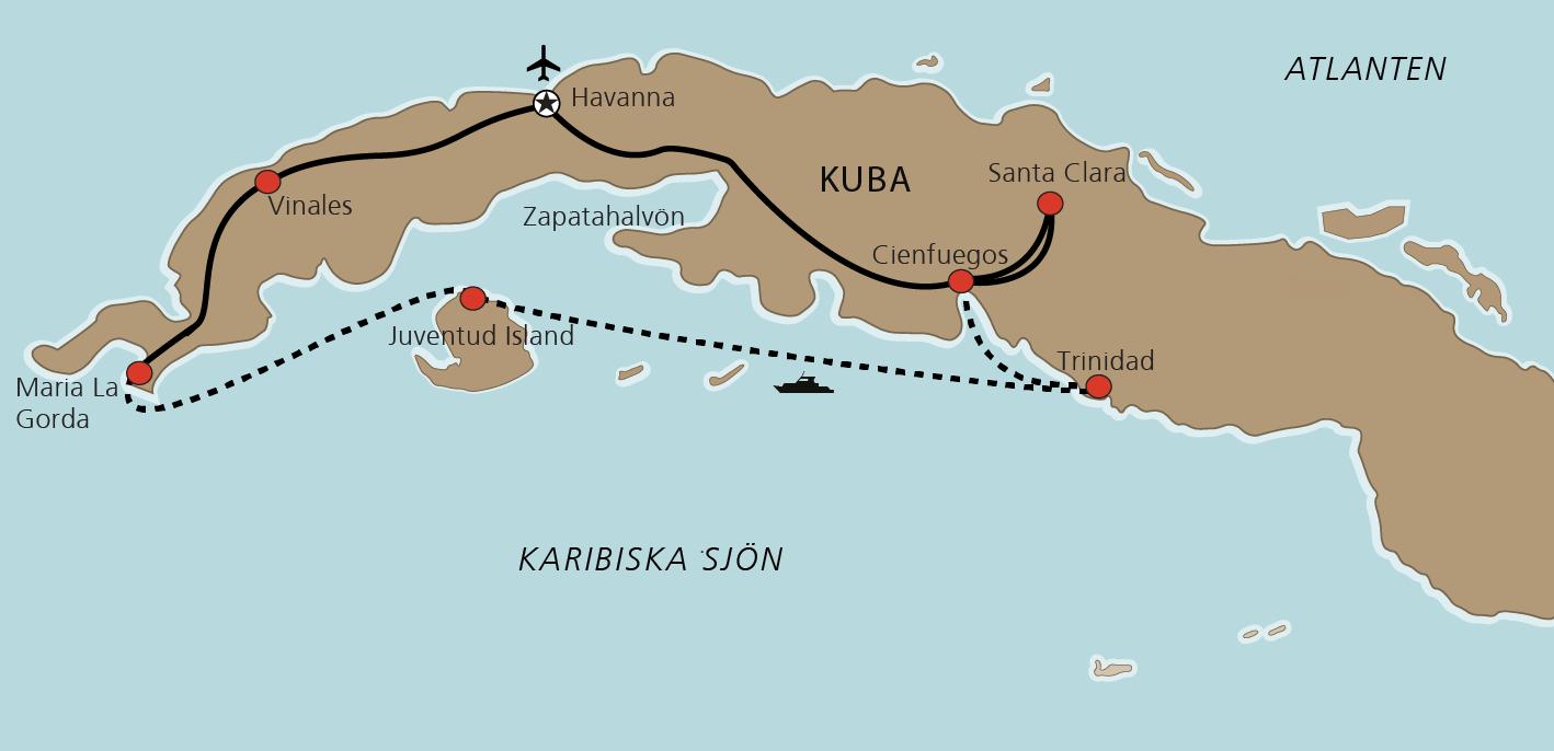 Karta Kryssning Kuba