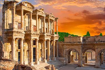 Pittoreska byar och grekisk afton