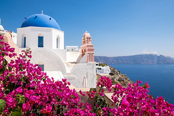 Kristallklart vatten och grekiska delikatesser
