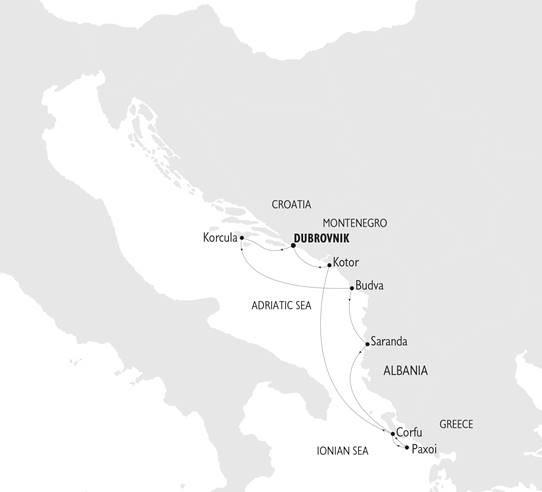 Karta Adriatiska havet & grekiska övärlden