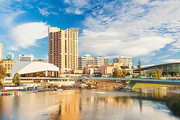 Ankomst Australien, Adelaide