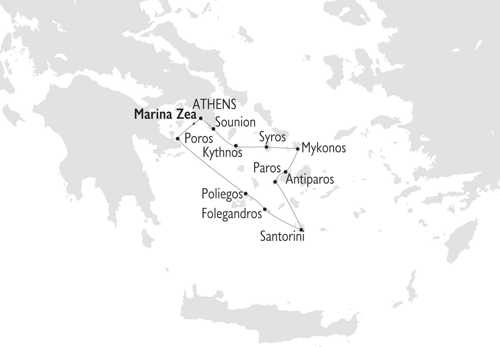 Karta Segla Grekland